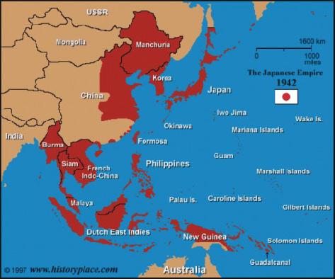 Japanse bezette gebieden
