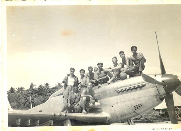 P-51 with tech crew