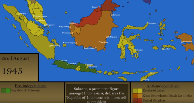 map year 1945 aug 22 indonesia