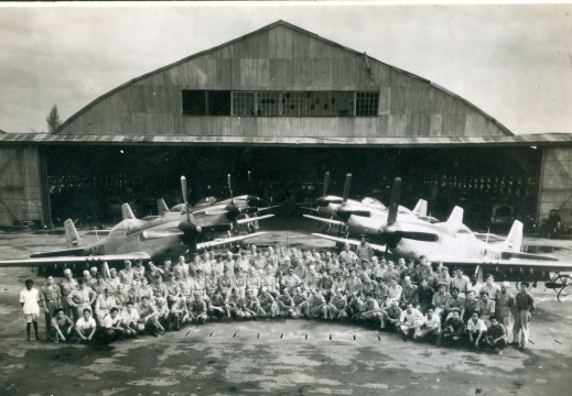 Last station portrait of 122sqn 1950 Medan