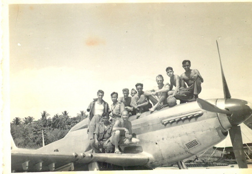 P-51 with tech crew
