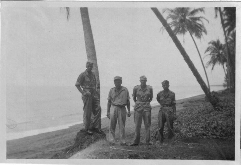 On west coast of Sumatra between the airbase and Padang