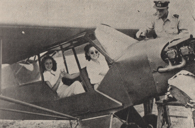 2 girls in a pipercub